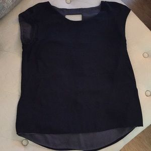 Reversible black and gray top